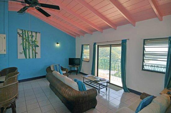 The Heritage Inn: living room in two bedroom suite