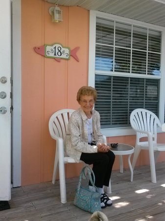 Tradewinds Beach Resort: mom on our porch