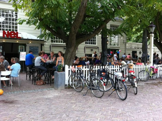 Brasserie NeL: fine terrace on off-the-beaten-track square, excellent service, had great meal, went back for lu