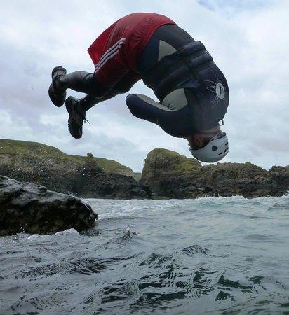 Coasteering NI - Private Tours: Double twisting half pike back flip!