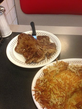 Waffle House: T-Bone Steak & Eggs Dinner