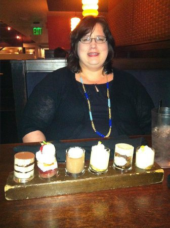 Majestic Grille: Try the Dessert Flight and share with your tablemates :)