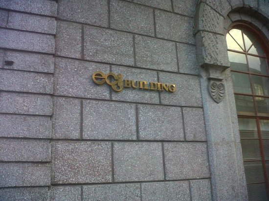 E.C.J Building: sign of the building