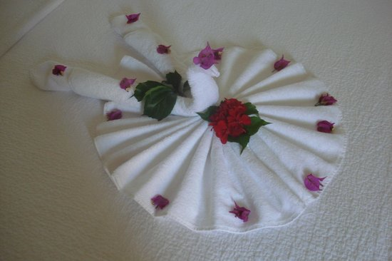 Club Belcekiz Beach Hotel: Housemaid decorations