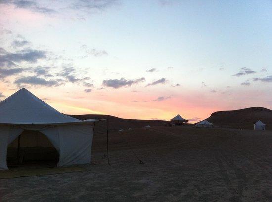 Scarabeo Camp : The sun set
