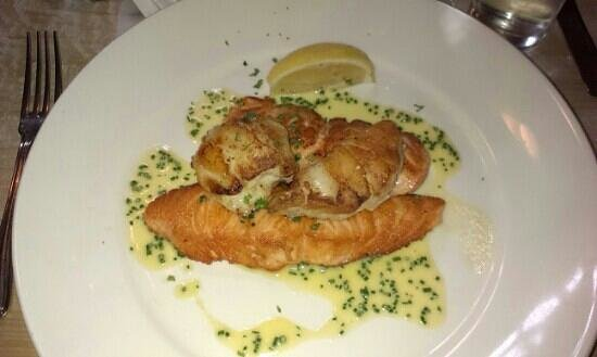 Man Friday: salmon scalop....