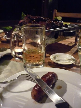 Malbec : parrillada completa en la mesa