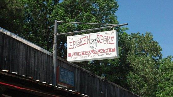 The Broken Spoke Restaurant: Love the sign.