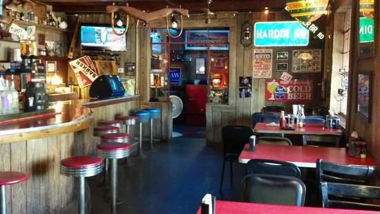 The Broken Spoke Restaurant: Part of the interior