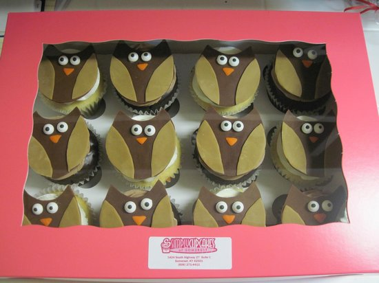Simply Cupcakes: Special order cupcakes.....Owl birthday party