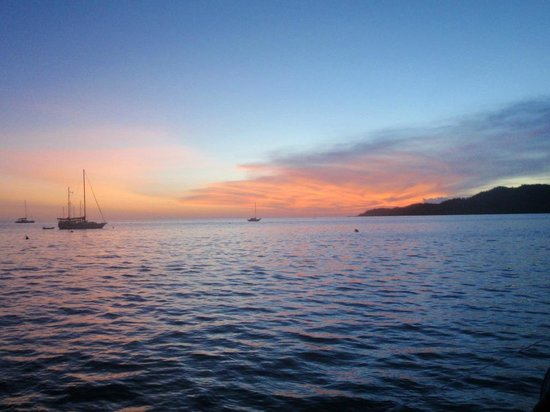 Musket Cove Island Resort: Enjoy magnificent sunsets
