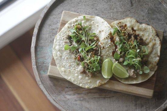 Simpatico: Pulled pork tortillas