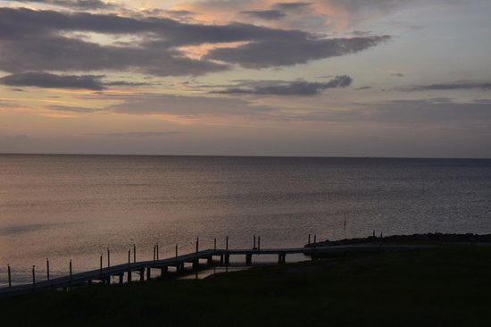 The Inn on Pamlico Sound: Sunset from froom