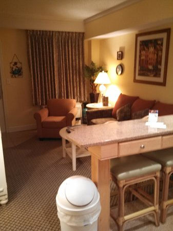 The Villas of Hatteras Landing: Front Room, seating area/kitchen