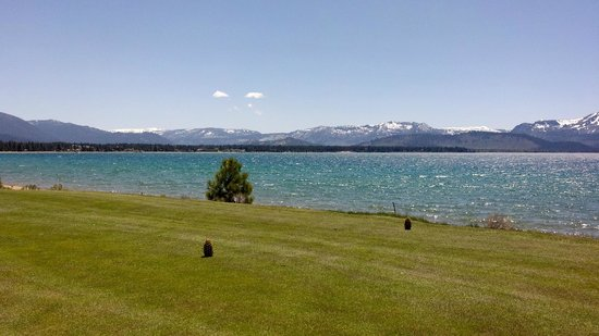 Edgewood Tahoe Golf Course: Lake view from 17 Tee