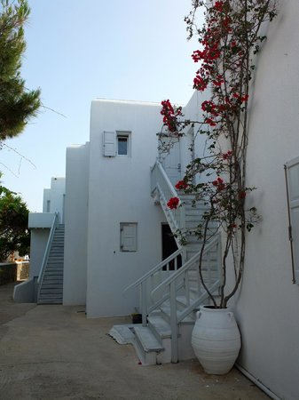 Mykonos Chora Apartments: Apartment #22 is up the first stair on the second floor