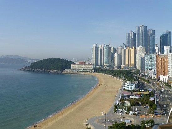 Paradise Hotel Busan : バルコニーからの眺め