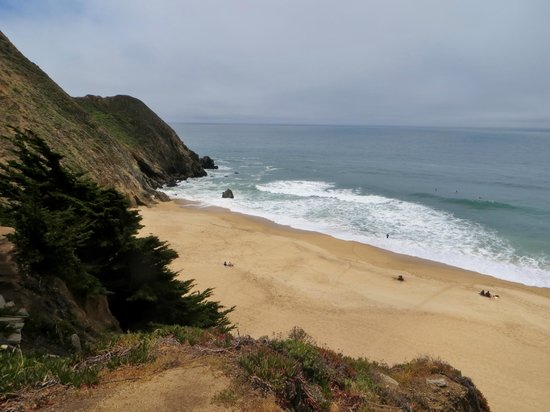 Gray Whale Cove State Beach: view from the top
