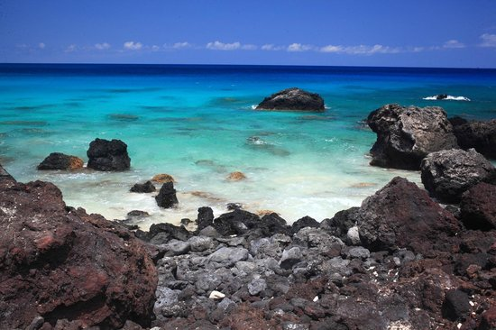 White Sand Beach Lava And