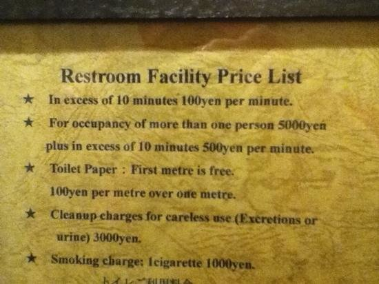 The Aldgate British Pub: from the gents toilet