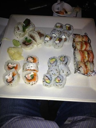The Fish: California, Philly, Beef Fajita, Tiger Eye, and Lobster Roll