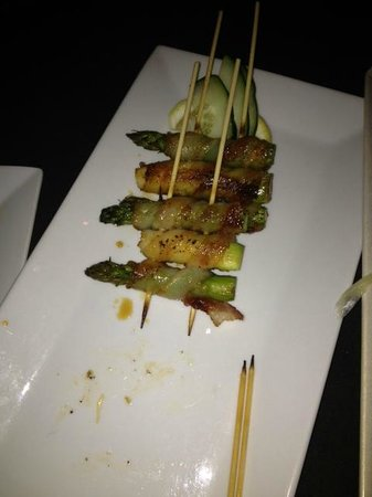 The Fish: Bacon wrapped asparagus