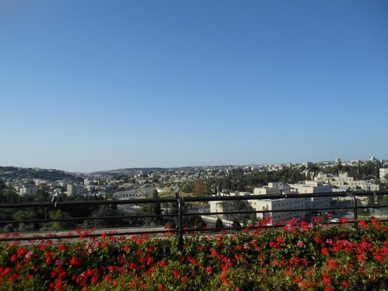 Dan Jerusalem Hotel: panorama di Gerusalemme da terrazza hotel