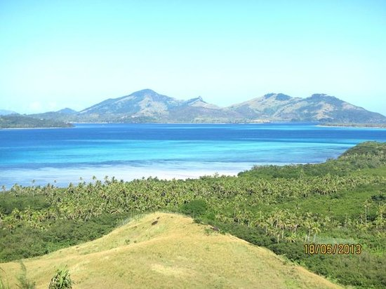 Nacula Island, Fiji: from walking track