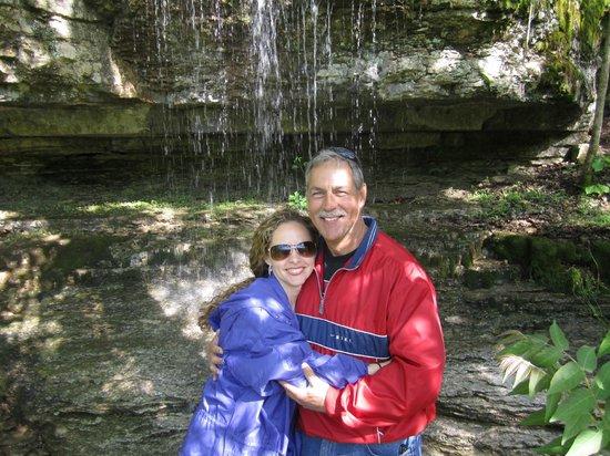 Rush Springs Ranch: Enjoying the waterfalls