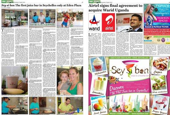 Sey si bon: newspaper