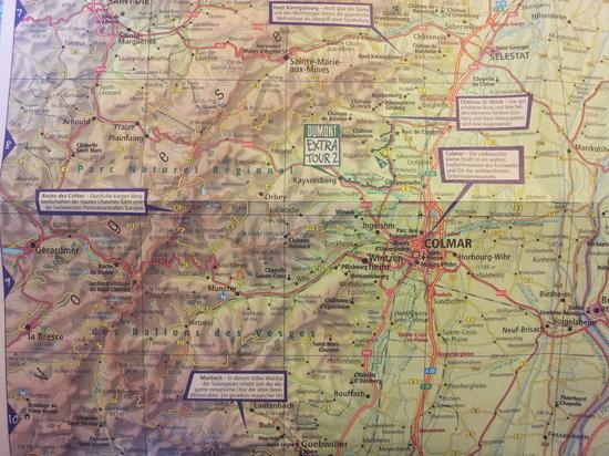 Deybach Hotel : Landkarte (Quelle: Dumont Reiseführer Elsass)