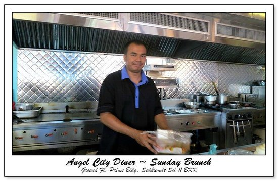 Angel City Diner: the afternoon chef who cooked my meal EXACTLY as i ordered it.