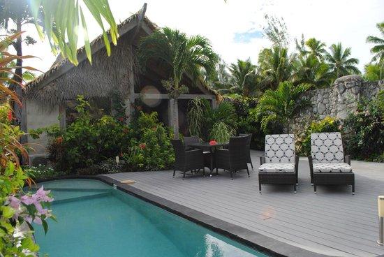 Aitutaki Escape : Private courtyard