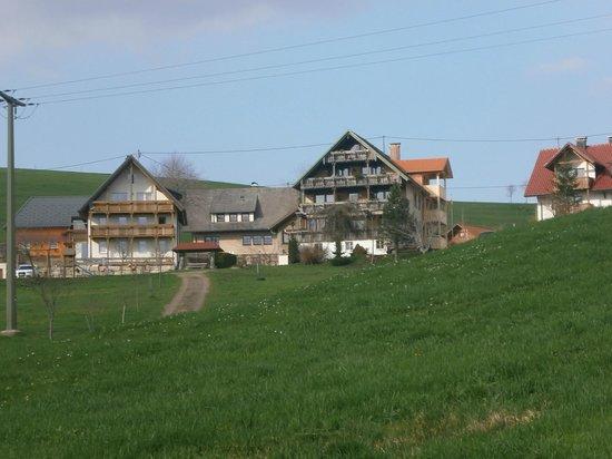 Cafe -Pension Feldbergblick : vue du bas de l hotel