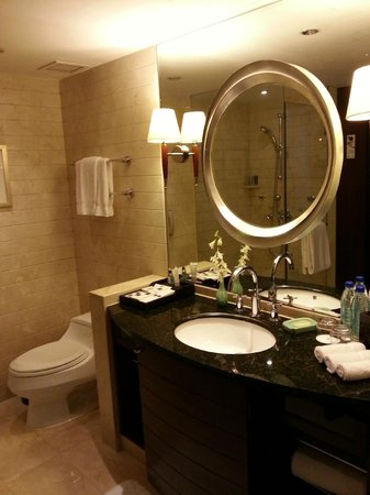 JW Marriott Hotel Shanghai at Tomorrow Square : Part of the bathroom