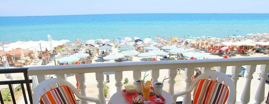 El Greco Beach Hotel: View from room