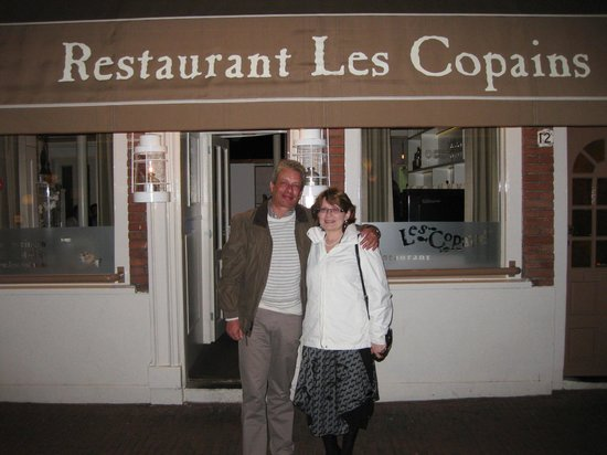 Les Copains : Photo taken by us to the restaurant's chef