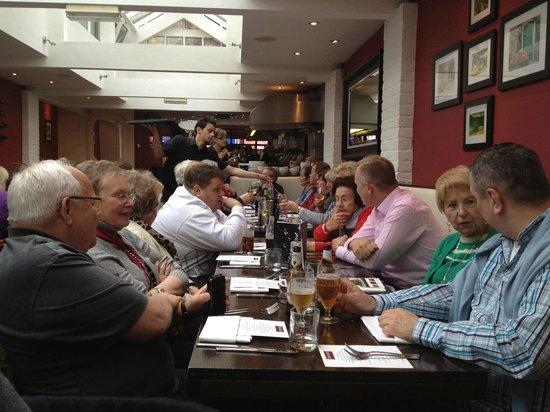 De Luca Cucina & Bar: Our group from the World Cat Congress enjoying lunch
