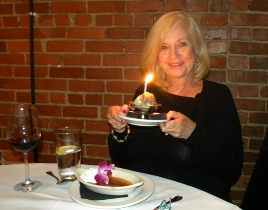 Iozzo's Garden of Italy: My birthday spumoni with a candle