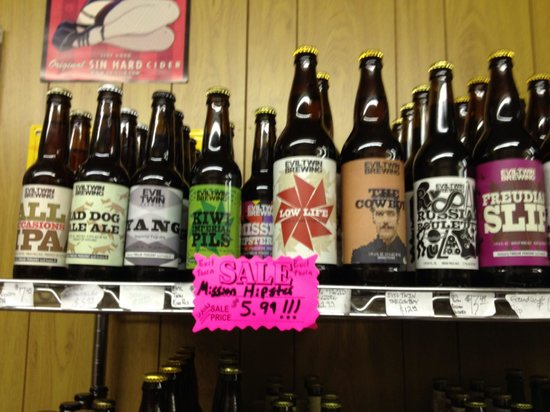 Sam's Quik Shop: An example of a portion of a shelf (Evil Twin Brewing)