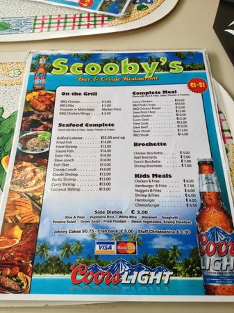 Scooby's : The Menu