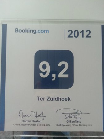Hotel Ter Zuidhoek: booking.com  revieuw 2012