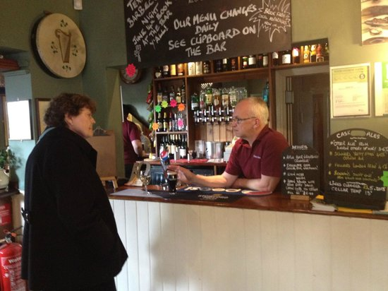 The Elsted Inn: Malcolm reviewing the Daily Menu