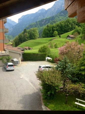 Hotel Berghof Wilderswil-Interlaken : View from the second story of our chalet