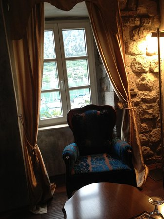 Hotel Astoria: View from room overlooking Kotor Bay