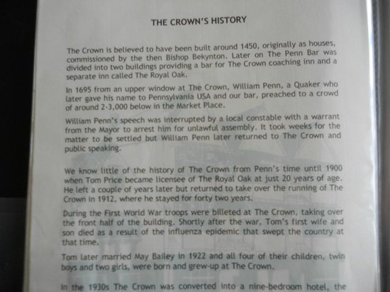 The Crown at Wells & Anton's Bistrot: History of hotel