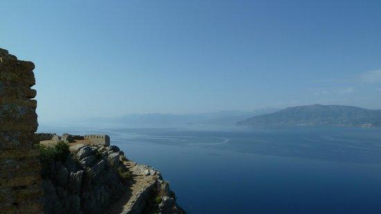 Vasilis Hotel: Amazing view from half way up to Palimidi