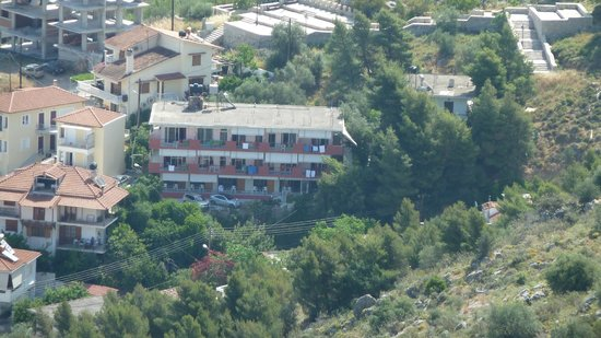 Vasilis Hotel: Hotel Vasilis from Palimidi