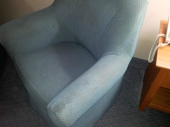BEST WESTERN Bryson Inn: The second stained chair--too filthy to sit on