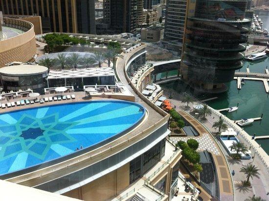 The Address Dubai Marina: view from the balcony